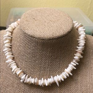Chunky funky Pooka shell necklace